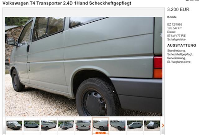 VW Bus T4 Bundeswehrrückläufer faires Angebot