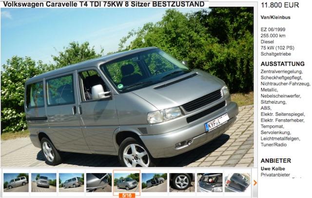 VW Bus T4 Caravelle gut erhalten kaufen Bus Checker