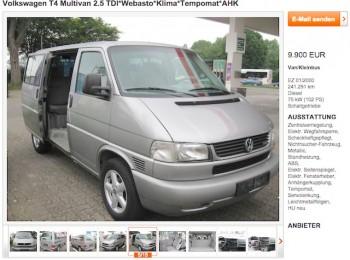 VW Bus T4 Inserate Check online kostenlos mit dem BusChecker