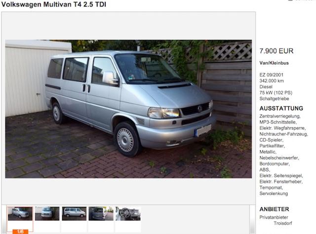 VW Bus T4 Multivan Johannes Referenzen BusChecke 12 2015r