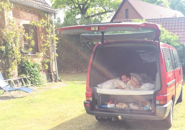 VW Bus T4 Multivan schlafen
