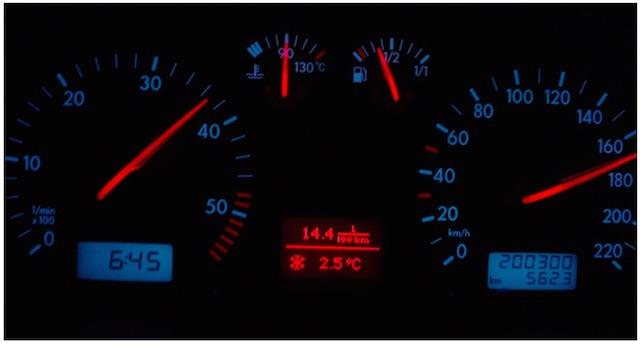 VW Bus T4 Temperaturanzeige mit standhaftem Kühlmitteltemperaturanzeiger