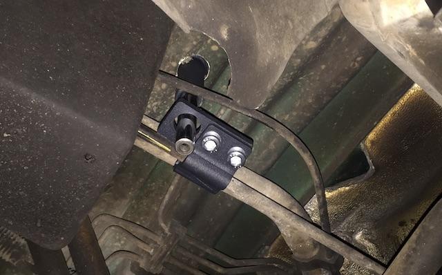 VW Bus T4 mechanische Diebstahlsicherung BEARLOCK arretiert Schaltgestänge