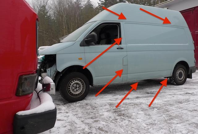 VW Bus T5 Seitenteil ohne Karosserienähte, Sie verschwinden aus dem Sichtbereich