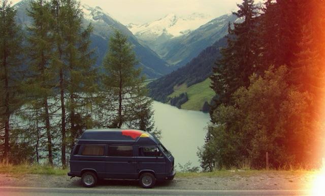 VW Bus verkaufen Landschaftsaufnahmen vermeiden