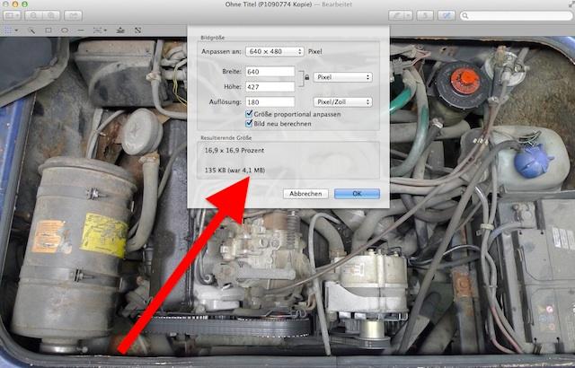 VW Bus verkaufen und Datenmenge der Bilder reduzieren für den e mail Versand
