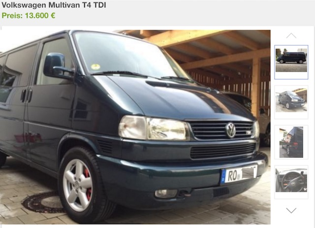 Vw Bus T4 Multivan Generation kaufen Bus Checker