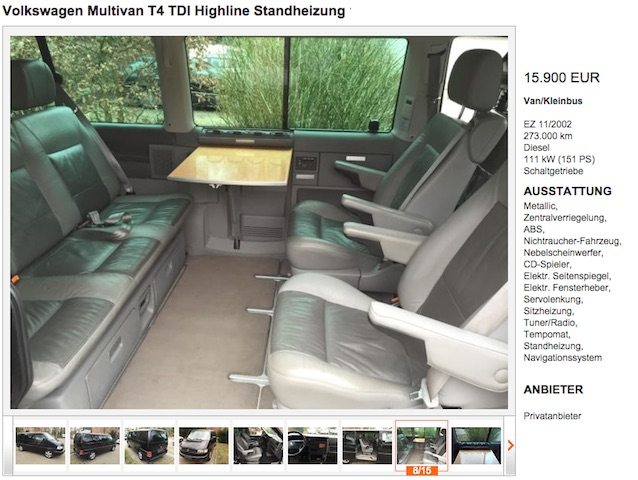 Vw Bus T4 high line BusChecker Referenz Tom 03 2015