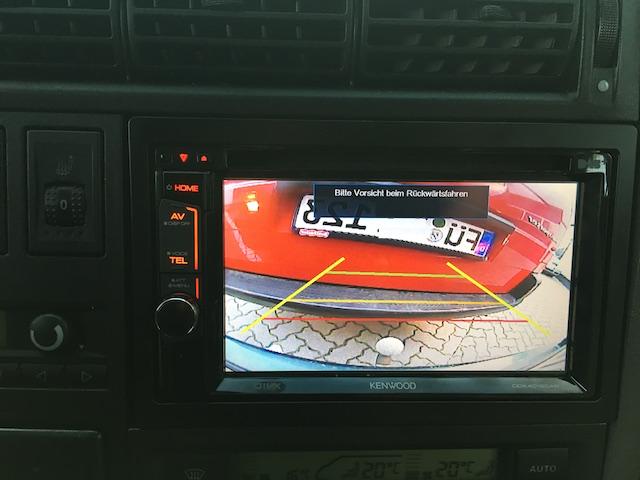 grosser Bildschirm Rueckfahrkamera VW Bus T4