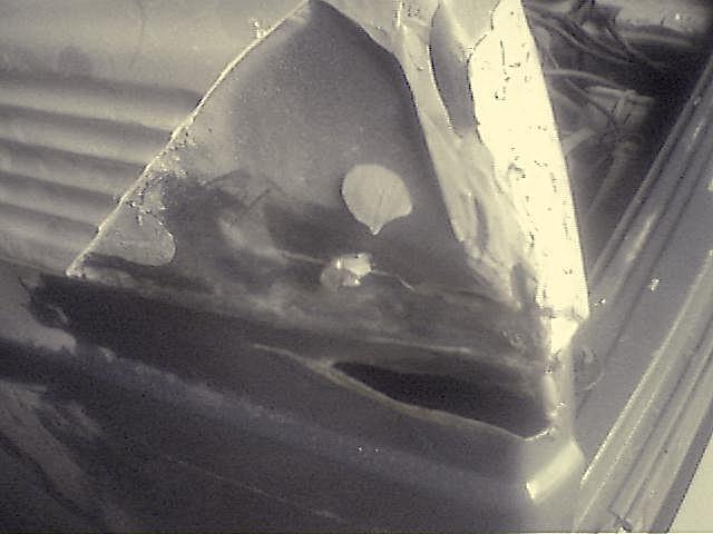 T3 Dehler Seitenschaden hinten links aussen Verkleidung