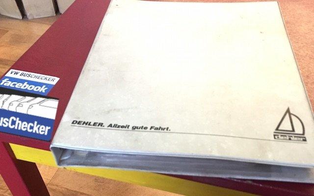 T3 Dehler Unterlagen Original ab Auslieferung