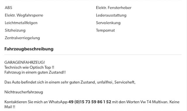 VW Bus T4 FAKE Inserat Tipps vom BusChecker