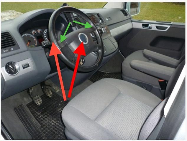 VW Bus T5 abgegriffenes Lenkrad und fehlendes VW Zeichen