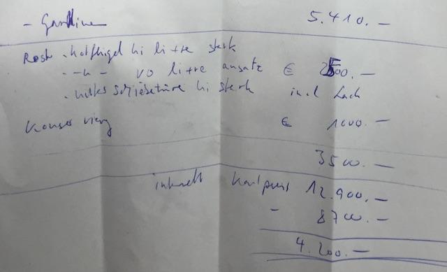 Notizen nach Besichtigung T4 Syncro Kaufberatung BusChecker