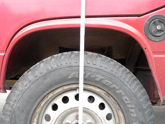 T3 Syncro Kotflügel beschädigt durch zu grosse Räder