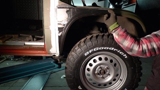 T3 Syncro Kotflügel für 225 70 R 16 Reifen anpassen
