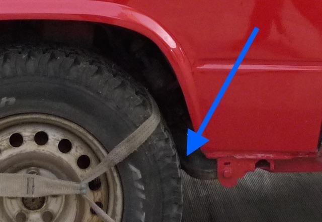 T3 Syncro zu grosse Reifen scheuern an Schwinge hinten