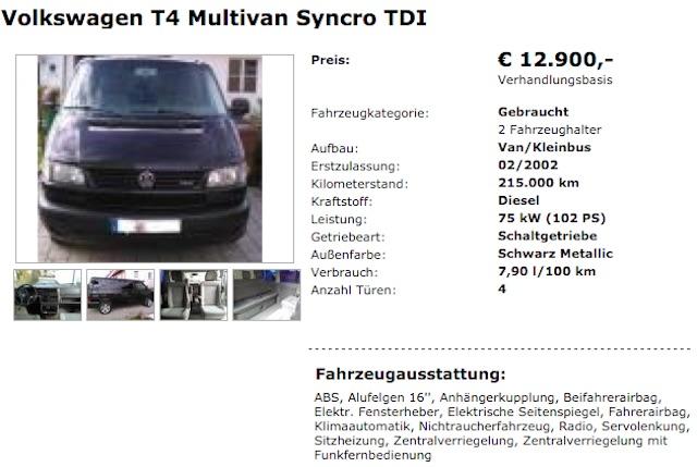 T4 Multivan Syncro Kaufberatung BusChecker
