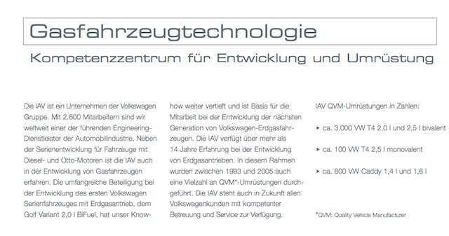 VW Bus BiFuel CNG Gasumbau durch IAV Quelle IAV GmbH Ingenieurgesellschaft Auto und Verkehr