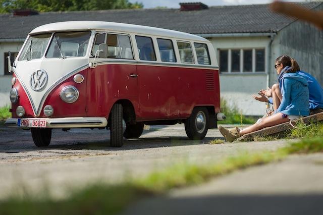 VW Bus T1 Scheunfund vor seiner ersten Ausfahrt seit langem