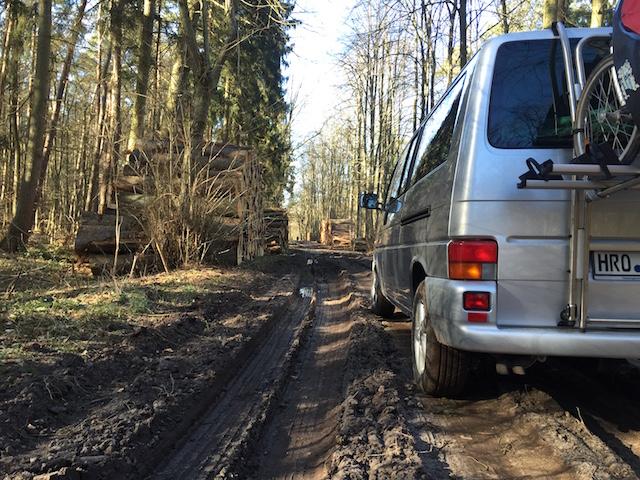 VW Bus T4 low budget höher legen