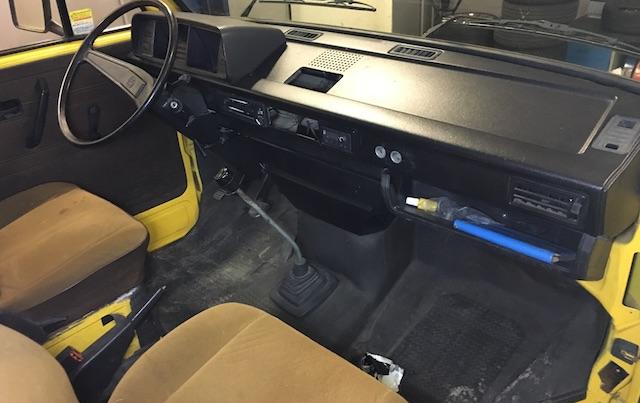 VW Bus T3 Beinfreiheit