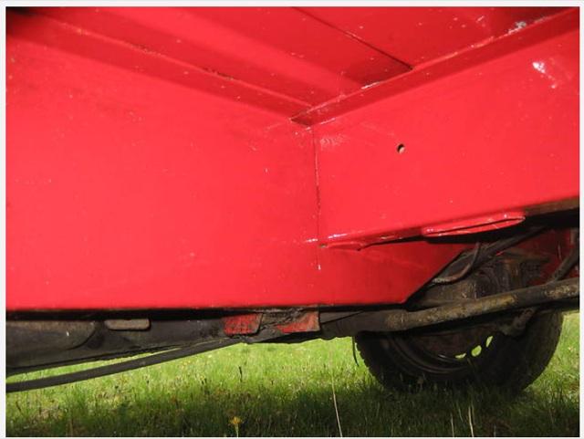 VW Bus T3 Unterboden neu lackiert Detailfoto Inserat günstiger KlappDachCamper