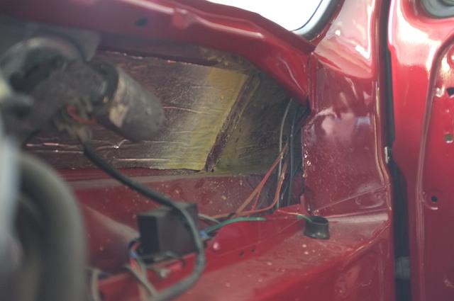 VW Bus T3 Frontscheibenrahmen geschweisst und konserviert