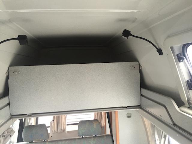 Etagenbett im VW Bus T4 HochDachCamper California Coach