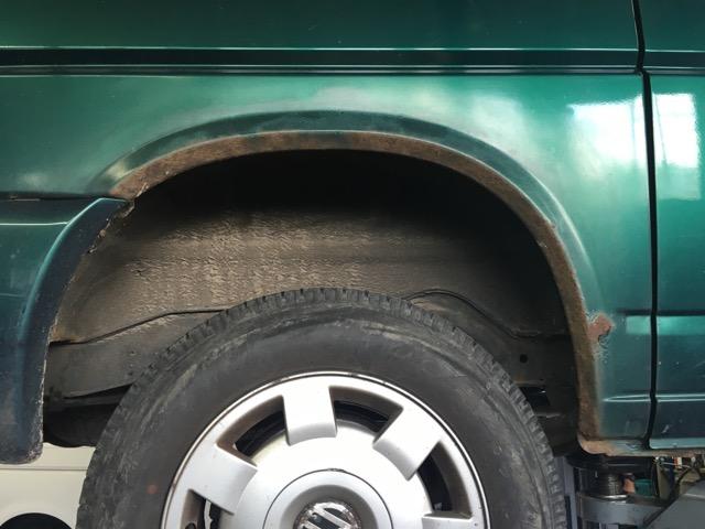 VW Bus T4 Radlauf hinten Rostvorsorge