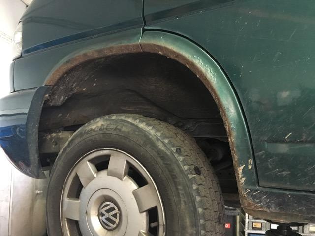 VW Bus T4 Radlauf vorne Rost was machen