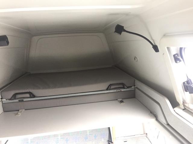 Liegeflächenteile Bett VW Bus oben zusammengeschoben