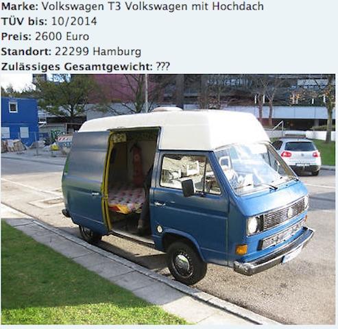 T3 Postbus zu verkaufen InserateCheck mit dem VW Bus Gutachter