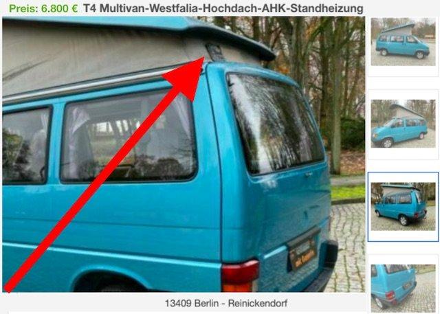 T4 FaltDachCamper Benziner günstig Erfahrungen Händler Berlin