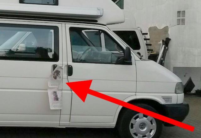 Tuergriffe neu lackieren beim VW Bus T4
