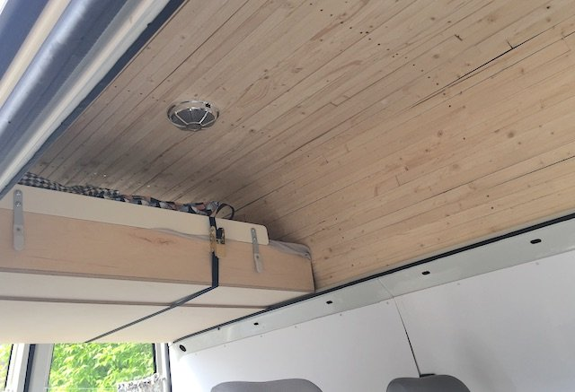 VW Bus Dach Innen Ausbau Holz