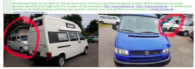 VW Bus Spezialist Elmshorn Vorsicht Blender Haendler
