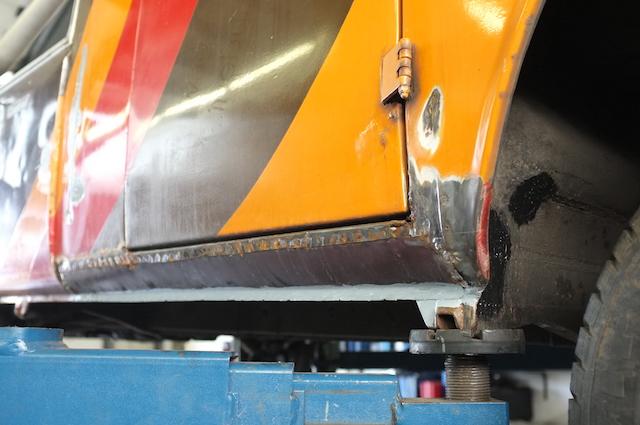VW Bus T2 Show car noch nicht komplett fertig geschweisst bei Abholung durch den BusChecker
