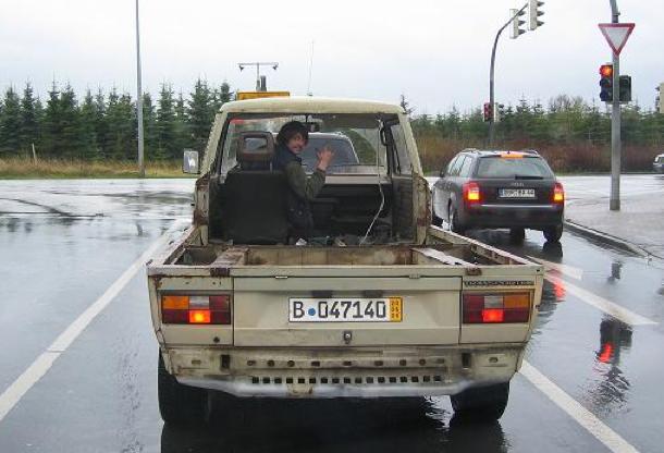 VW Bus T3 Brettershuttel überfunhrung zu Metallbau Seyer