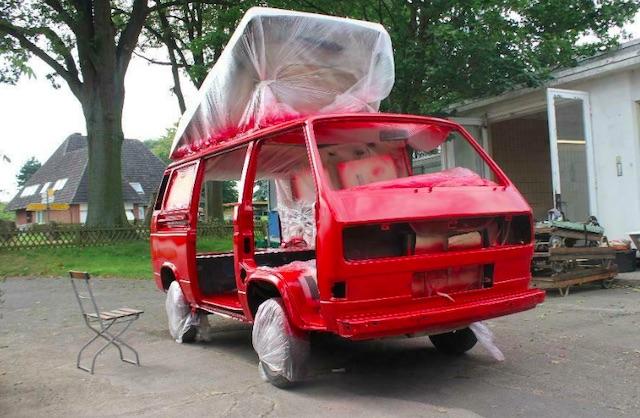 VW Bus T3 Lackierung Qualität erkennt man wie