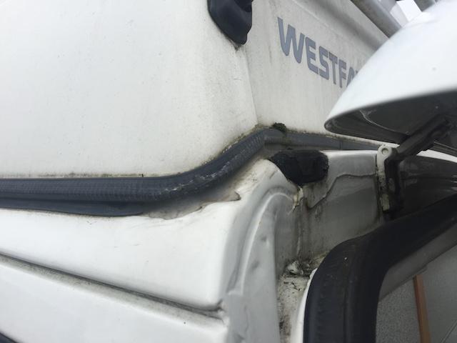 VW Bus T4 California Coach HochDach Wassereinbruch am Heck