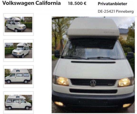 VW Bus T4 California Coach Kaufberatung Pinneberg