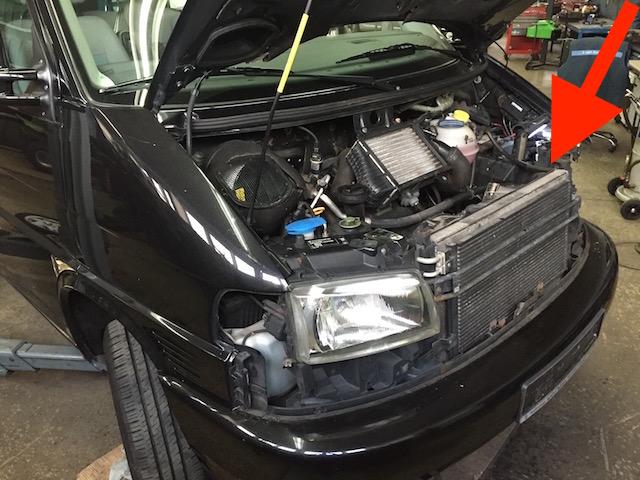 VW Bus T4 Front zerlegen um an den Dieselfilter zu kommen