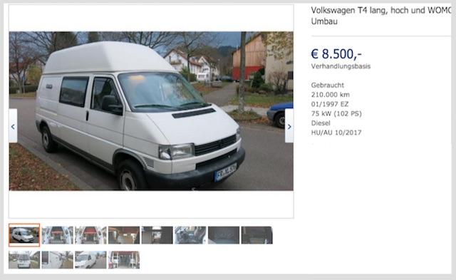 VW Bus T4 Hoch und lang ohne Schiebetür