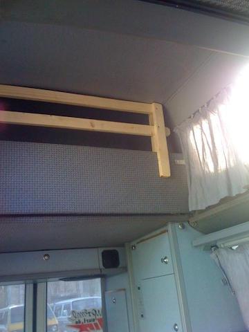VW Bus T4 HochDachCamper Bett oben Kinder gegen rausfallen sichern