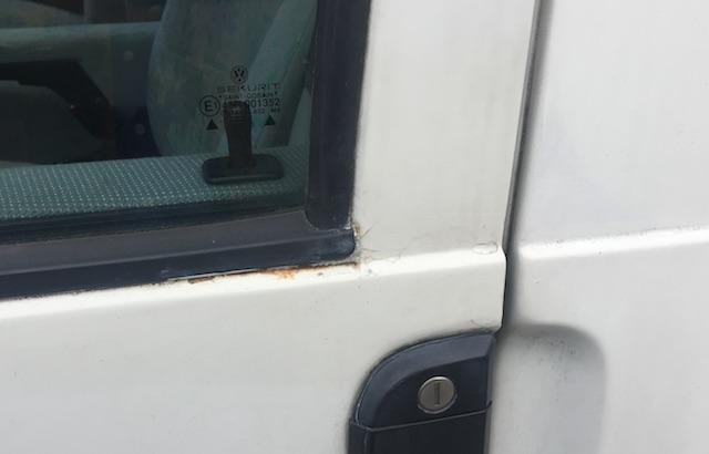 VW Bus T4 HochDachCamper Kaufberatung Rostansatz an der Tür