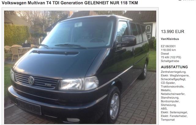 VW Bus T4 Multivan gekauft mit dem BusChecker