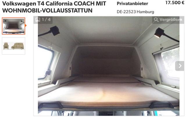 VW Bus T4 Westfalia Coach mieser Zustand bei neuem Anbieter in Hamburg wieder aufgetaucht 08 2016
