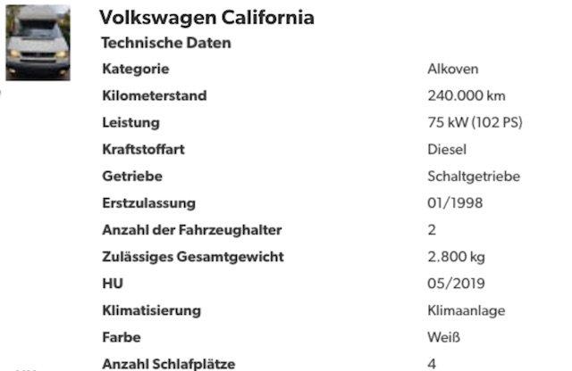 VW Bus T4 Westfalia HochDach Coach Kaufberatung Pinneberg