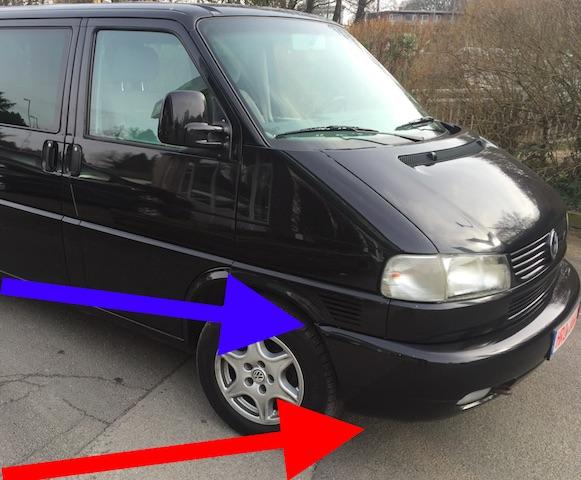 VW Bus T4 Y Traeger vorne auf Rost pruefen